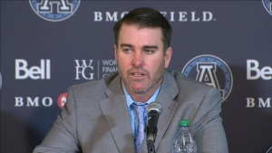 Ryan Dinwiddie was introduced as the Argos' new head coach on Friday.