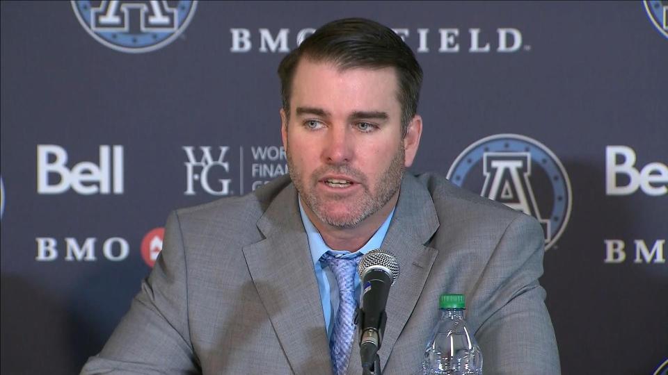 Ryan Dinwiddie was introduced as the Argos' new head coach on Friday.