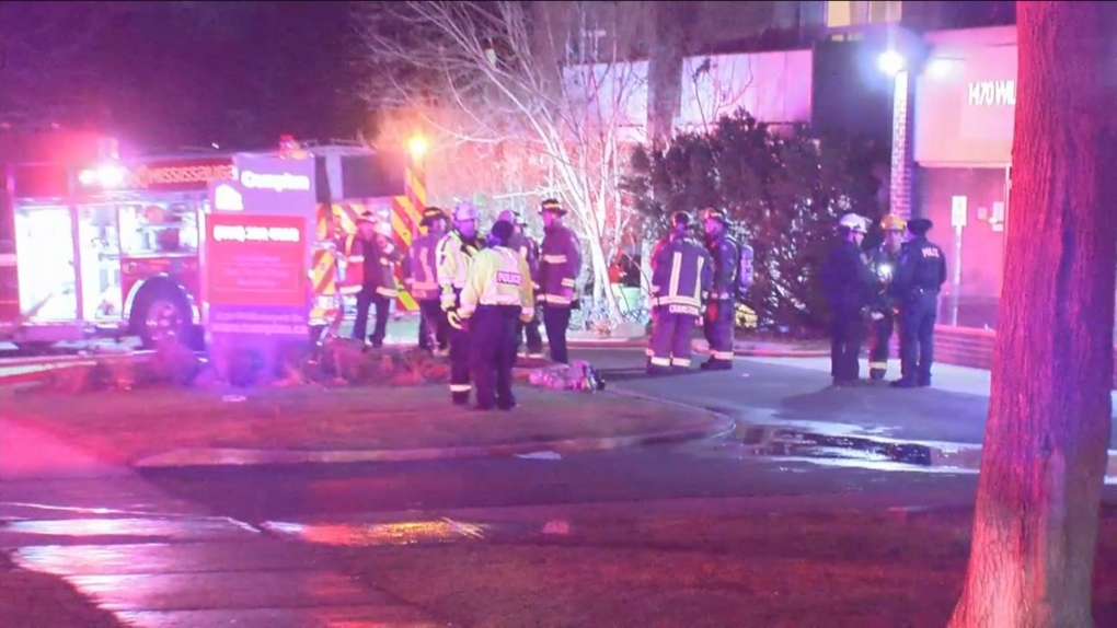 Two people rushed to hospital after fire at Mississauga highrise