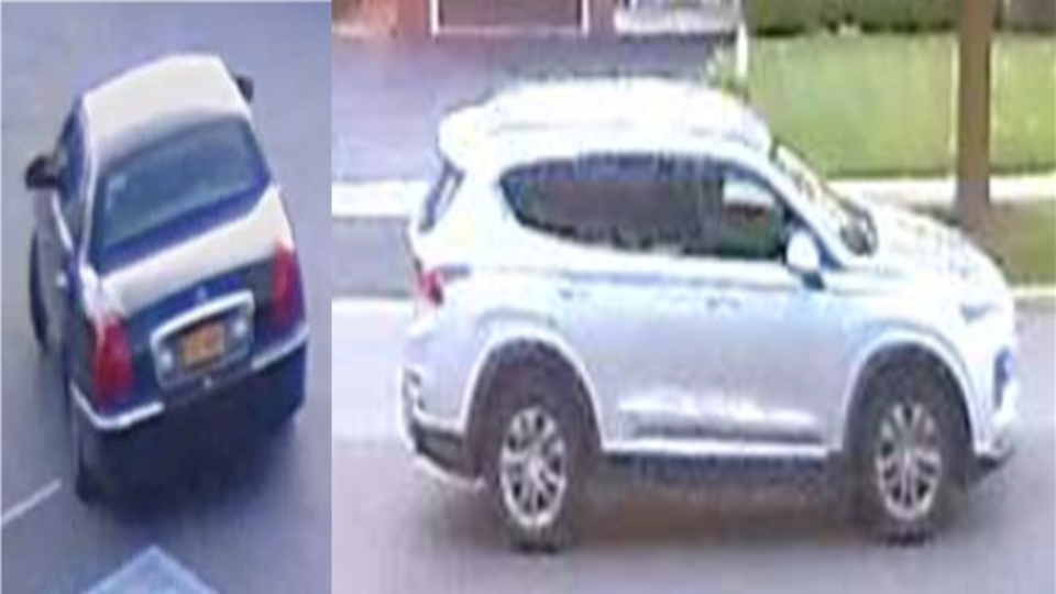 Peel police say they believe the suspects used these two motor vehicles to rob banks. (Supplied)