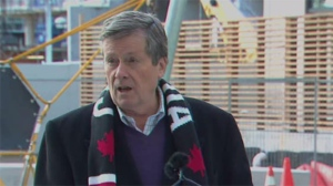 Mayor John Tory attends a ribbon-cutting ceremony for the latest building completed as part of the ongoing revitalization of Regent Park.