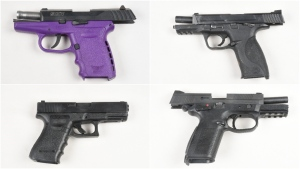 Four firearms were seized by Peel Regional Police. (Police handout)