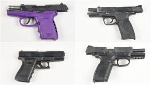 Four firearms were seized by Peel Regional Police. (Police handout)