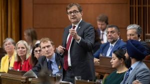 Minister of Environment and Climate Change Jonathan Wilkinson responds to a question during Question Period in the House of Commons Monday December 9, 2019 in Ottawa. THE CANADIAN PRESS/Adrian Wyld