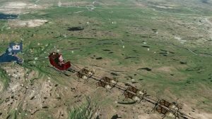NORAD's Santa tracker is pictured. (NORAD)