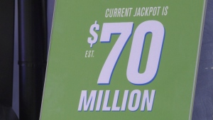 The massive $70 million dollar Lotto Max jackpot remained unclaimed after Friday night's draw.