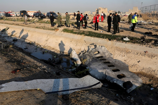 Iran plane crash - gallery
