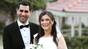 Siavash Ghafouri-Azar and Sara Mamani from Montreal are shown in a handout photo from family friend Gounash Pirniya taken at their wedding in Iran about a week ago. The couple is confirmed as victims of the Iran plane crash. THE CANADIAN PRESS/HO-Gounash Pirniya