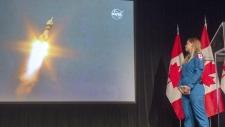 Canadian astronaut Jenni Sidey-Gibbons