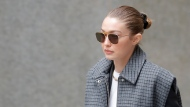 Supermodel Gigi Hadid leaves a Manhattan courthouse for Harvey Weinstein's jury selection in his trial on rape and sexual assault charges in New York, Thursday, Jan. 16, 2020. (AP Photo/Seth Wenig)