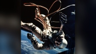 Astronaut Ed White moves away from the Gemini 4 capsule in this 1965 file photo. White, the first American spacewalker, lost a spare glove when he went outside for the first time. From that time on, astronauts have accidentally added some of the more unusual items to the 100,000 pieces of space trash that circle Earth. THE CANADIAN PRESS/AP/NASA, FILE