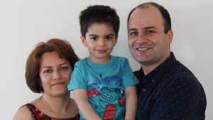 Razgar Rahimi, right, his spouse Farideh Gholami and their son Jiwan Rahimi are seen in an undated family photo. Family friend Mariana Eret says Gholami was pregnant. The family died aboard a Ukrainian airliner which was shot down near Tehran last week that killed 176 people. THE CANADIAN PRESS/HO-Mariana Eret,