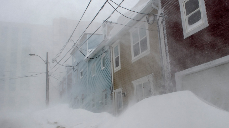 High winds and heavy snow cause white out conditions in St. John's on Friday, January 17, 2020. THE CANADIAN PRESS/Andrew Vaughan