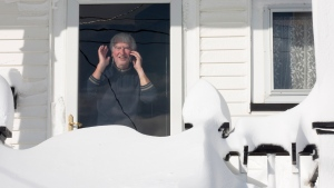 A residents of downtown St. John's, NL on Saturday, January 18, 2020. he state of emergency ordered by the City of St. John's is still in place, leaving businesses closed and vehicles off the roads in the aftermath of the major winter storm that hit the Newfoundland and Labrador capital. THE CANADIAN PRESS/Paul Daly