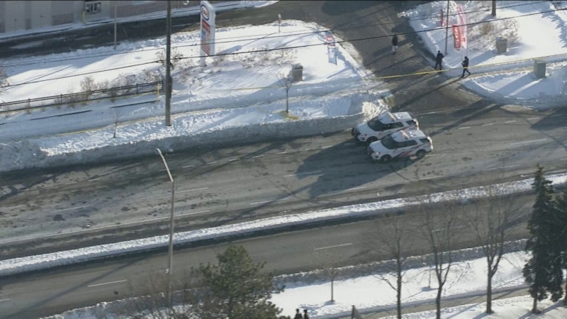 Police respond to a shooting in the area of Markham and Ellesmere roads in Scarborough Monday January 20, 2020.