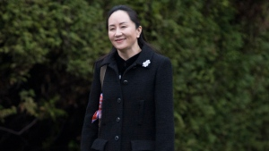 Meng Wanzhou, chief financial officer of Huawei leaves her home in Vancouver, Monday, January, 20, 2020. THE CANADIAN PRESS/Jonathan Hayward