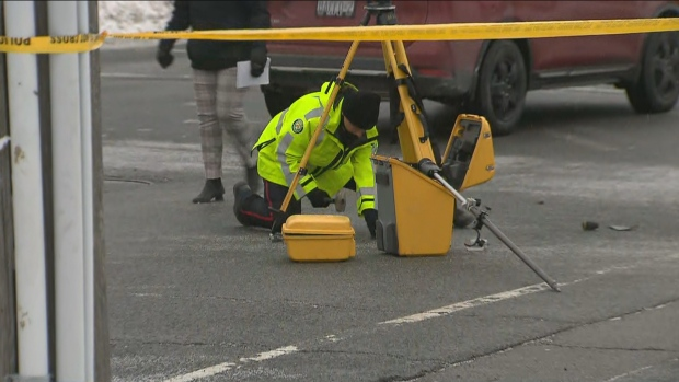 Police are on the scene of a fatal pedestrian-involved collision in North York.