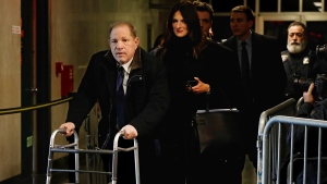 Harvey Weinstein, followed by his attorney Donna Rotunno, leaves court during his rape trial, Tuesday, Jan. 21, 2020, in New York. (AP Photo/Richard Drew)