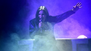 "FILE - This Nov. 24, 2019 file photo shows Ozzy Osbourne performing at the American Music Awards in Los Angeles. The 71-year-old Grammy winner and former vocalist for the metal band Black Sabbath said during an interview on ""Good Morning America"" that aired Tuesday, Jan. 21, 2020, that he's been diagnosed with Parkinson's disease, a nervous system disorder that affects movement. The diagnosis came after a fall last year. (Photo by Chris Pizzello/Invision/AP, File)"