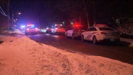 Police respond to a stabbing at a residence on Manse Road Tuesday January 21, 2020.