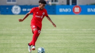 Toronto FC's Jahkeele Marshall-Rutty is seen in this undated handout photo. Toronto FC has signed 15-year-old midfielder Jahkeele Marshall-Rutty as a homegrown player, making him the youngest player ever to sign with the first team. THE CANADIAN PRESS/HO, Lucas Kschischang
