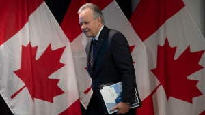 Bank of Canada Governor Stephen Poloz arrives for a news conference at the Bank of Canada Wednesday, January 22, 2020 in Ottawa. THE CANADIAN PRESS/Adrian Wyld