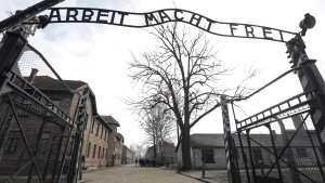 The Nazi concentration camp Auschwitz-Birkenau in Oswiecim, Poland, is pictured on Friday, Feb. 15, 2019. (AP Photo/Michael Sohn)
