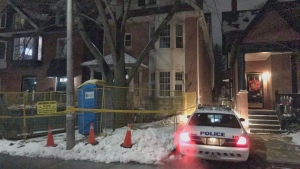 Police say construction workers found human bones during home renovations in The Annex.