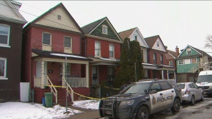 Police are trying to track down suspects after a seven-year-old boy was shot at a home in Hamilton on Thursday night.