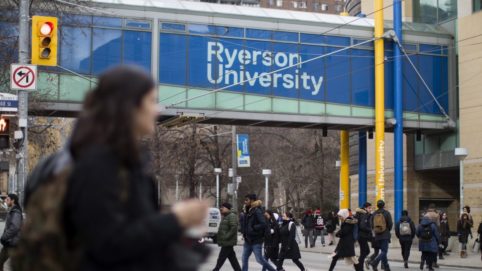 FILE - A general view of the Ryerson University campus in Toronto, is seen on Thursday, January 17, 2019. THE CANADIAN PRESS/Chris Young