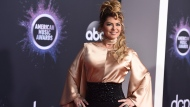 Shania Twain arrives at the American Music Awards on Sunday, Nov. 24, 2019, at the Microsoft Theater in Los Angeles. (Photo by Jordan Strauss/Invision/AP)