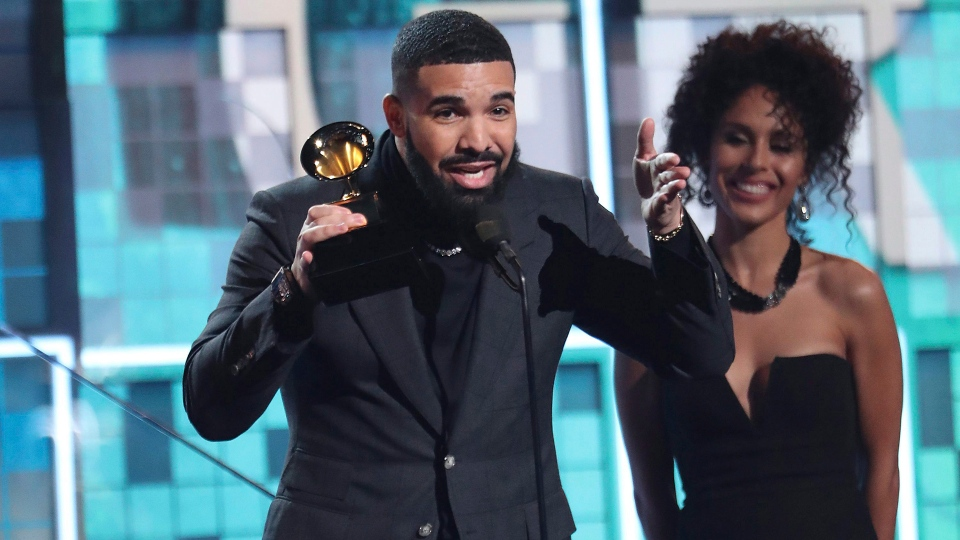"Drake accepts the award for best rap song for ""God's Plan"" at the 61st annual Grammy Awards on Sunday, Feb. 10, 2019, in Los Angeles. From Shawn Mendes to Drake, the line-up of Canadian nominees at the 2020 Grammy Awards are old pros in the Top 40 community. THE CANADIAN PRESS/Invision/AP-Matt Sayles"