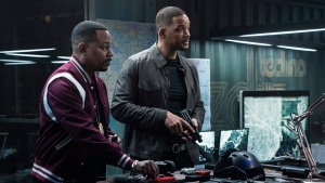 "This image released by Sony Pictures shows Martin Lawrence, left, and Will Smith in a scene from ""Bad Boys for Life."" (Ben Rothstein/Columbia Pictures-Sony via AP)"
