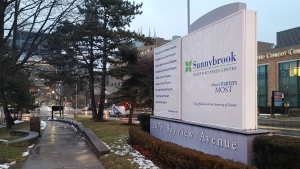 Sunnybrook Hospital is shown in Toronto on Sunday Jan. 26, 2020. THE CANADIAN PRESS/Doug Ives
