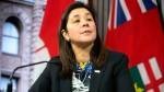 Dr. Eileen de Villa, Medical Officer of Health for the City of Toronto attends a news conference in Toronto, on Monday, January 27, 2020, as officials provide an update on the coronavirus in Canada. THE CANADIAN PRESS/Chris Young