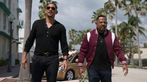 """This image released by Sony Pictures shows Martin Lawrence, right, and Will Smith in a scene from """"Bad Boys for Life."""" (Ben Rothstein/Columbia Pictures-Sony via AP)"""