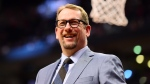Toronto Raptors head coach Nick Nurse acknowledges the crowd during second half NBA basketball action against the Chicago Bulls, in Toronto, Sunday, Feb. 2, 2020. THE CANADIAN PRESS/Frank Gunn