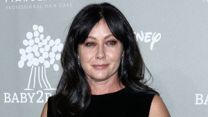 In this Nov. 14, 2015 file photo, Shannen Doherty attends the 4th Annual Baby2Baby Gala in Culver City, Calif. (Photo by John Salangsang/Invision/AP, File)