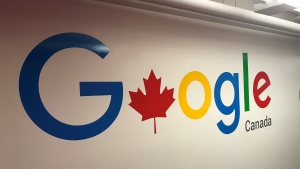 The Google logo is pictured at the company's Toronto office. (Craig Wadman)