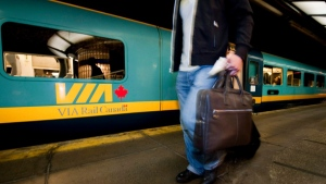 A Via Rail train is shown in this file photo. (Peter McCabe/The Canadian Press)