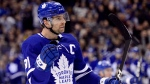 Toronto Maple Leafs centre John Tavares (91) celebrates his goal during second period NHL hockey action against the Anaheim Ducks, in Toronto, Friday, Feb. 7, 2020. THE CANADIAN PRESS/Frank Gunn
