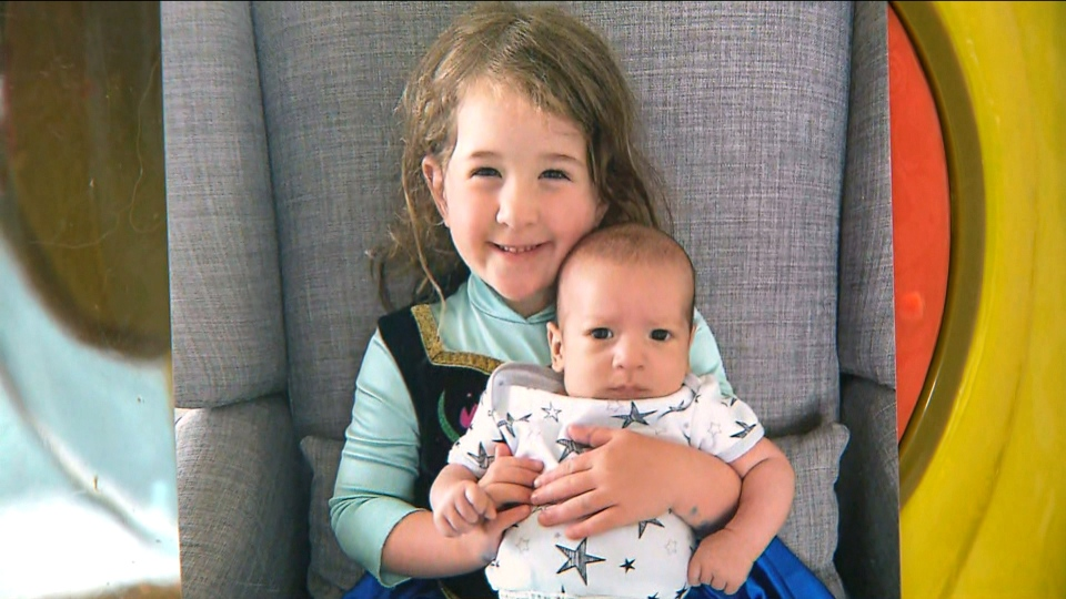 Kiera Kagan is seen in this undated photo with her brother. (Supplied by family)