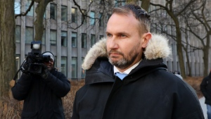 Gavin MacMillan is seen outside Ontario Superior Court in Toronto on Wednesday, Jan. 29, 2020. THE CANADIAN PRESS/Colin Perkel