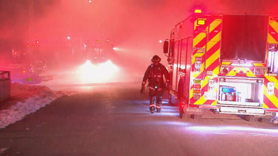 Toronto fire are battling a two-alarm house fire near Danforth Road and Warden Avenue.