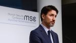 Prime Minister Justin Trudeau holds a closing press conference following the Munich Security Conference, in Munich, Germany, Friday, Feb. 14, 2020.THE CANADIAN PRESS/Sean Kilpatrick