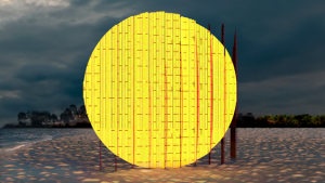 """Mirage,"" by Cristina Vega and Pablo Losa Fontangordo, is shown in this rendering. It is one of four installations that are part of the sixth annual Winter Stations event at Woodbine Beach."