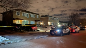 Police respond to a stabbing near Elmhurst Drive and Lagos Road Tuesday February 18, 2020. (Peter Muscat)