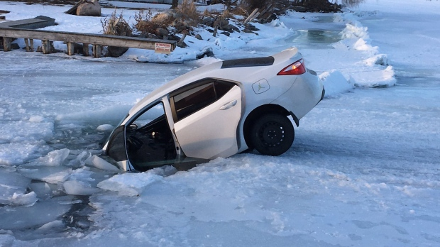 Car in ice
