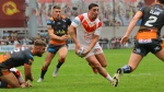 Catalan Dragons' Tony Gigot, centre, is shown in this 2019 handout photo. Low on bodies, the Toronto Wolfpack have got some temporary roster help with the signing of French international Tony Gigot. The 29-year-old, who played for Catalan Dragons last season, joins the transatlantic rugby league team on a four-week trial basis. THE CANADIAN PRESS/HO - Catalan Dragons