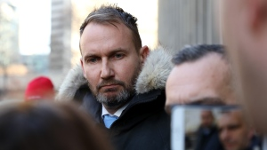 Gavin MacMillan is seen outside Ontario Superior Court in Toronto on Wednesday, Jan. 29, 2020. A former Toronto bar owner has been sentenced to a total of nine years for drugging and sexually assaulting a barely conscious woman in 2016. His manager was also sentenced to a nine-year total for gang sexual assault and administering a stupefying drug. A jury convicted Gavin MacMillan, 44, and Enzo De Jesus Carrasco, 34, in November. THE CANADIAN PRESS/Colin Perkel